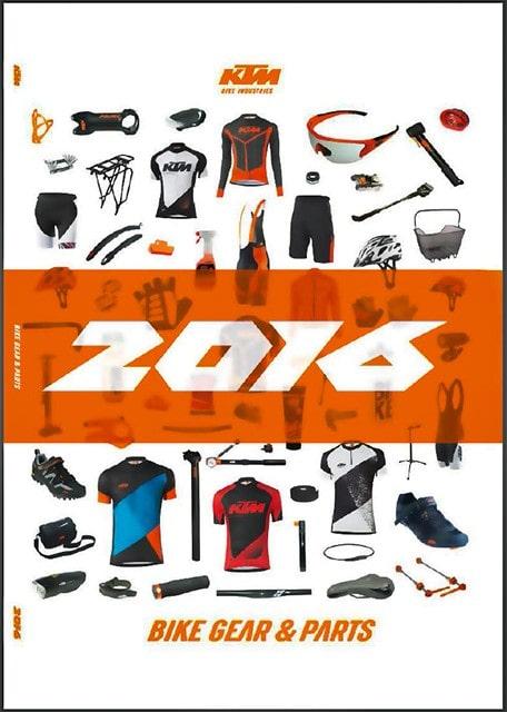 Akcesoria rowerowe, ubrania rowerowe, części rowerowe – KTM 2016